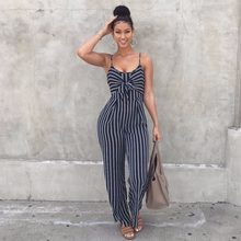 Jumpsuit Women Hot Sale Vadim Body Bodysuit Women Free Shipping 2019 Sexy Striped Jumpsuit Straight Cotton Casual Broadcloth(China)
