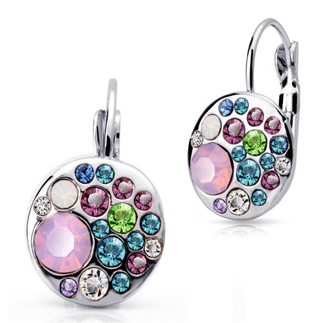 Magic Ikery Crystal  Round drop earrings