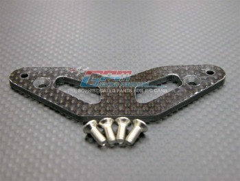 Grafitowy gruby 2.5mm górny zderzak do Tamiya TT01 TT01D, TT01E
