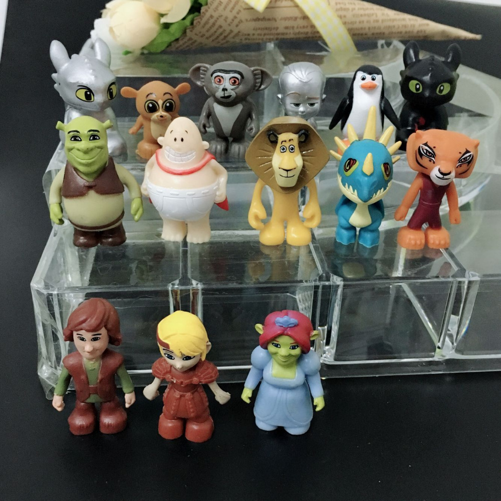 new arrival 00pcs lot cool style famous cartoon pvc toy for bonus gift in Action Toy Figures from Toys Hobbies