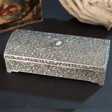 Европейская прямоугольная жестяная цветная металлическая шкатулка для украшений, креативная коробка для хранения косметики, органайзер, коробка Z108