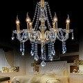 Оптовая продажа с фабрики Чжуншань 6 золотых хрустальных свечей люстры 8, 10, 12 и 18 хрустальных люстр