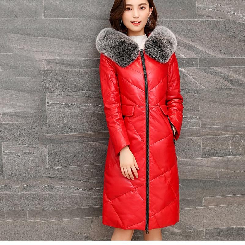 Femmes Chaud 2019 En armygreen Cuir Grande Taille Red Longues Qualité Supérieure Doudoune Nouvelle Veste Mode À Moyen Capuche Nuw260 Hiver black O8w1wtXq