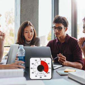 Image 5 - Minuterie visuelle de 60 minutes silencieuse, minuterie compte à rebours pour enfants et adultes, salle de classe ou conférence
