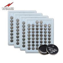 200pcs/4pack Wama 100% New CR1220 3V Lithium Button Cell Batteries Watch Coin Battery Car Remote Control ECR1220 LM1220