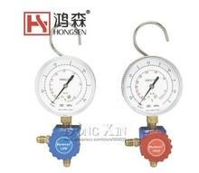 R410 HS-468A low pressure air- conditioning refrigerant grade single table valve pressure gauge Diagnostic dosing tool hvac 1 way manifold gauge hs 470a r410 single gauge for r410 with 2pcs low pressure hose