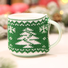 New Arrival Christmas Decoration for Home Mug Cover Christmas Tree Snowflake Elk Knitted Cup Cover New Year Party Table Decor