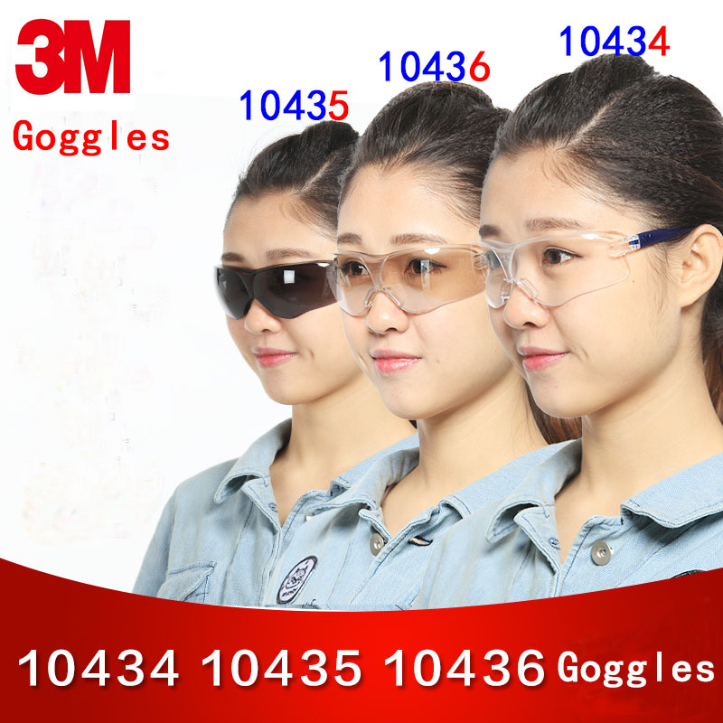 3M 10434/10435/10436 goggles Genuine security 3M protection glasses 3 styles Optional Multifunction protective glasses safety