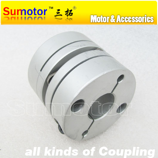 CNC parts OD 55mm L 48mm, Bore 14mm 15mm 16mm 18mm 19mm 20mm 22mm 24mm 25mm for servo Stepper Motor flexible diaphragm Coupling  new flexible aluminum alloys double diaphragm coupling for servo and stepper motor couplings d 44 l 50 d1 and d2 are 8 to 20 mm