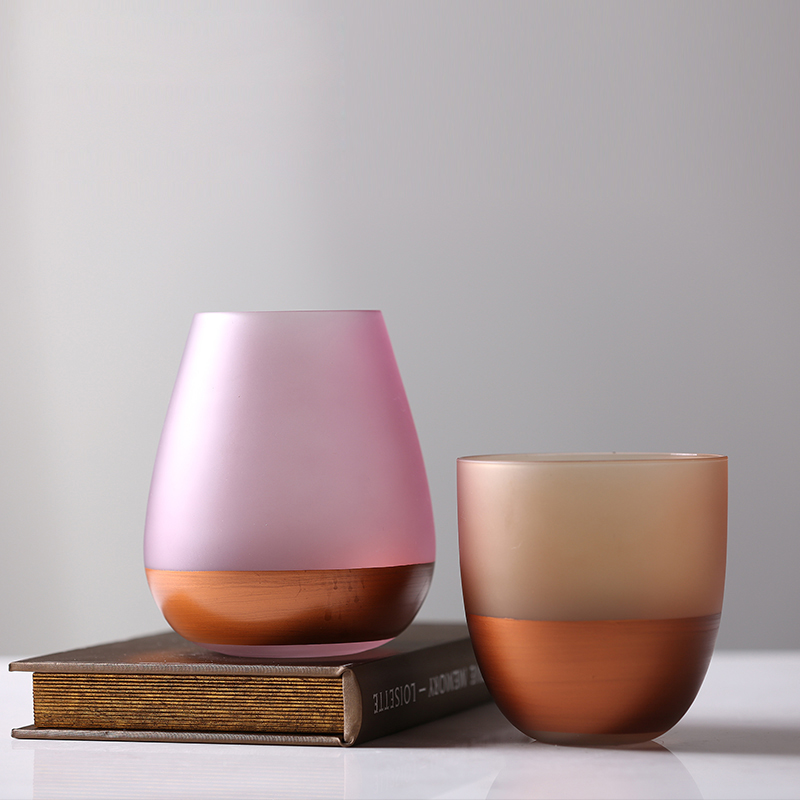 Creative glass vase Colored terrarium containers Crafts flower vases  home wedding decoration jarrones decorativos moderno