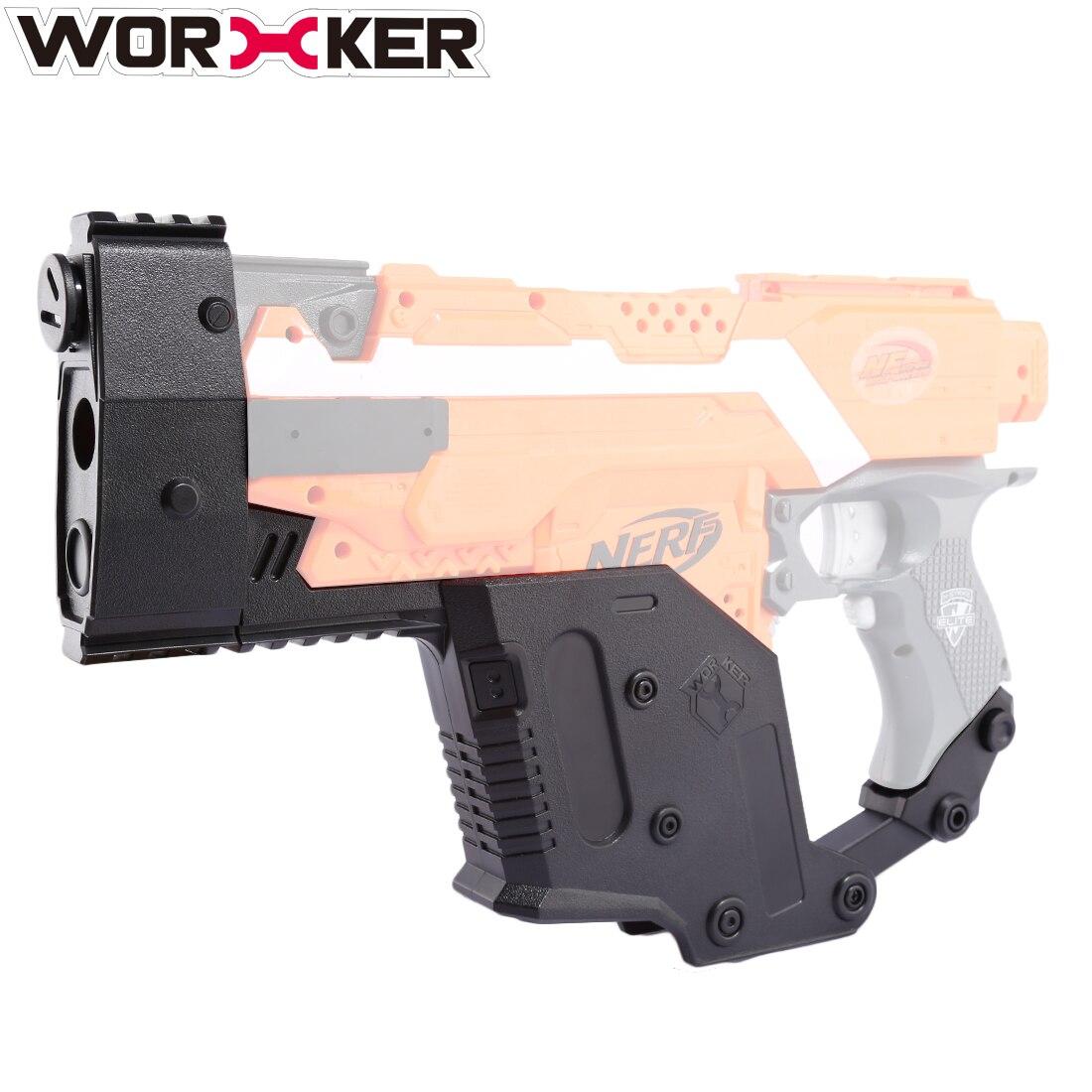 Travailleur Modifié Poignard Couverture En Forme accessoires de jouet kit pour Nerf Stryfe Professionnel accessoires de jouet-Noir