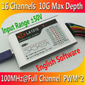Kingst LA1016 USB логический анализатор 100 м Максимальная частота выборки, 16 каналов, 10 в образцы, MCU, ARM, FPGA инструмент для отладочной работы, английс...