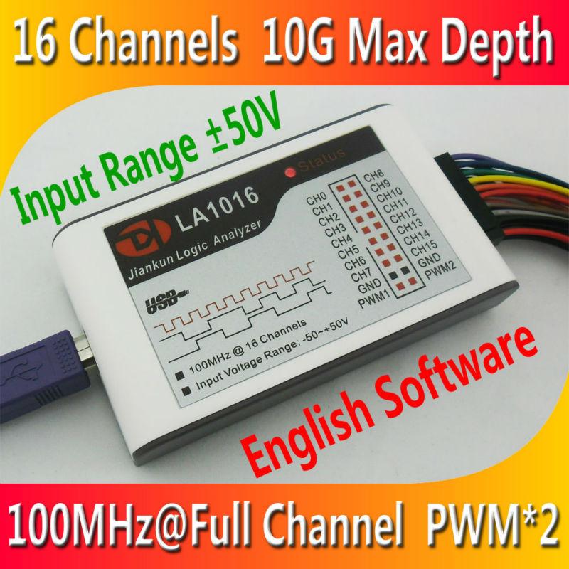 Kingst LA1016 USB Analyseur Logique 100 M taux d'échantillonnage max, 16 Canaux, 10B échantillons, MCU, BRAS, FPGA outil de débogage, logiciel en anglais