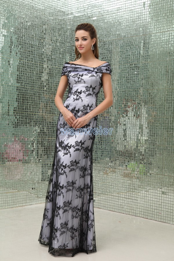 free shipping woman dresses 2018 floor length long new design hot sale vestidos formales black lace Mother of the Bride Dresses in Mother of the Bride Dresses from Weddings Events