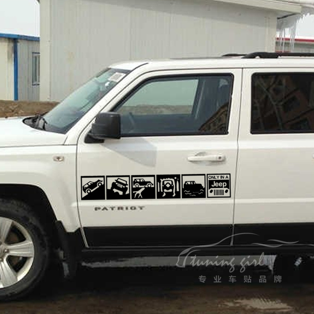 Car stickers 4x4 4wd decals for compass patrio wrangler cherokee waterproof auto tuning styling 60