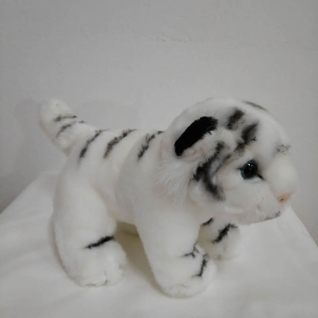 17cm White Tiger Plush Toy Very Cute Baby Tiger Cub Stuffed Animal