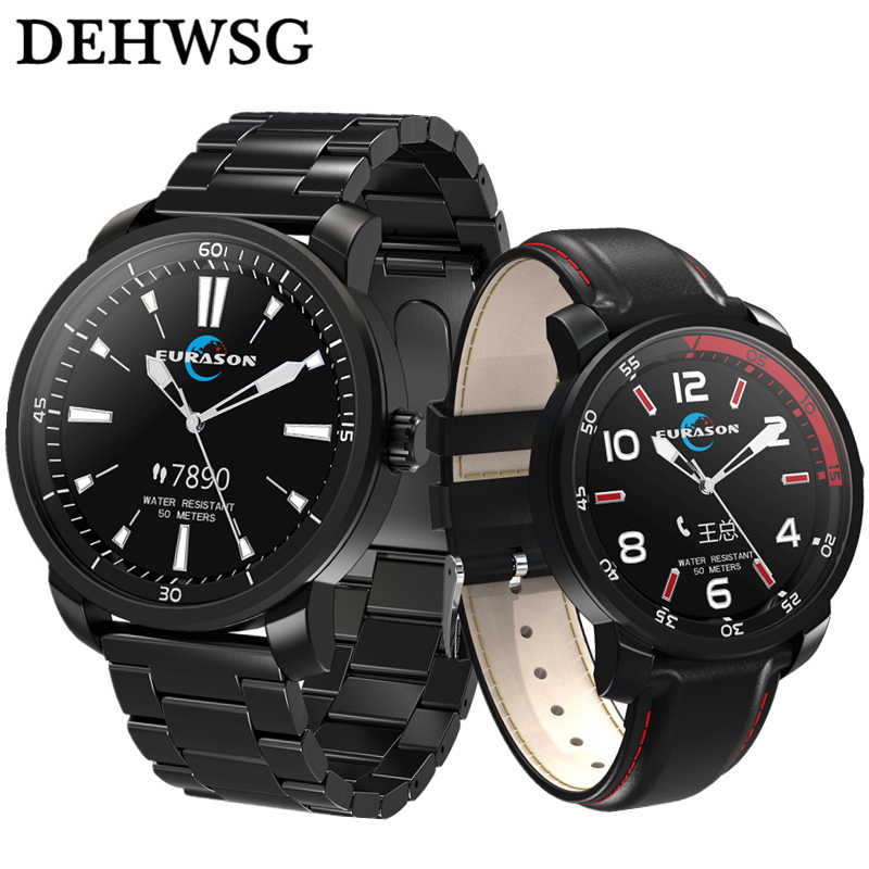 ea7400df1a5 DEHWSG IP68 Waterproof Sports Watch With OLED Touch Screen 3 Needles Smart  Clock USB Cable Charge