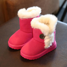 2016 Ug Rubber Boots Soft Nap Kids Boot Girls Slip-resistant Cotton Padded Flat Boys Kids Snow Boot Girls Winter For Christmas