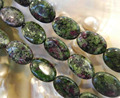 Wholesale!Green zoisite 13X18mm oval shape loose beads 15 inch 2 pieces/lot DIY stone suitable for women to make design