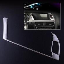 CITALL Нержавеющаясталь Авто центральной консоли навигации Предупреждение свет Панель крышка отделка Подходит для Audi A4 B8 A5 2013 2014 2015