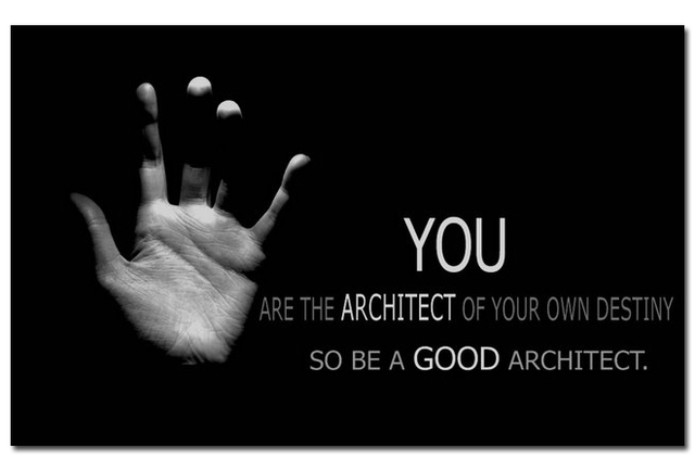 Be A Good Architect - Motivational Quote Education Art Silk Poster Print  12x18 20x30 24x36