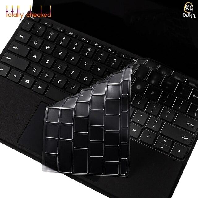 """Cubierta de teclado de TPU Protector de pegatinas de piel para Microsoft Surface Go 10 """"10,1 pulgadas"""