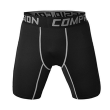 Sexy Mens Workout Compression Shorts Male Fitness Bodybuilding Mid Waist boxers high quality musculation