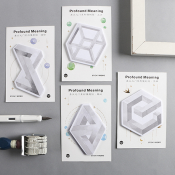 Kawaii Magnetic Field Cube Sticker Stick Marker Bookmark Memo Pad Flags Sticky Notes Stationery School Office Supplies sl1418