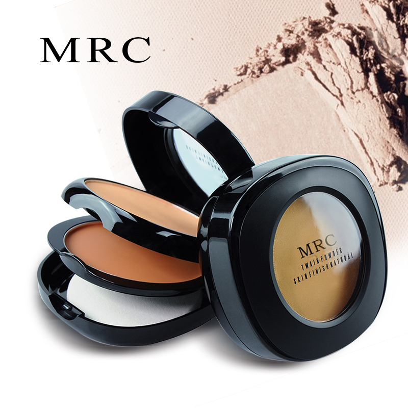 все цены на MRC 3IN1 Pressed Powder Compact Palette Face Foundation Base Contour Makeup Palette Concealer with Puff онлайн