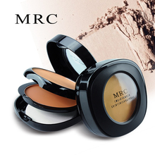 MRC 3IN1 Pressed Powder Compact Palette Face Foundation Base Contour Makeup Palette Concealer with Puff