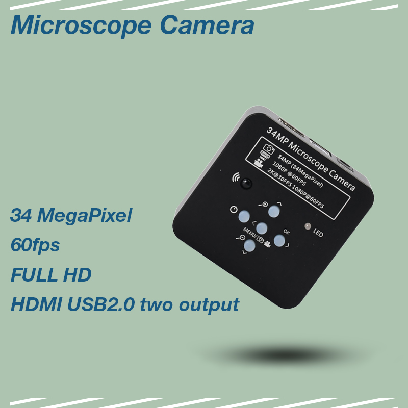 HD Microscope Camera 34mp 2K 1080P 3400W HDMI USB Industrial Electronic Digital Video mikroskop kamera For Phone CPU PCB RepairHD Microscope Camera 34mp 2K 1080P 3400W HDMI USB Industrial Electronic Digital Video mikroskop kamera For Phone CPU PCB Repair