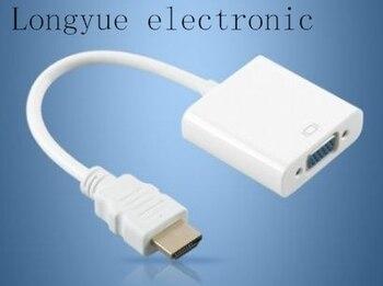 10 teile/los pc laptop zu projektor hdmi zu vga kabel konverter adapter hdmi vga video konverter hdmi-vga kabel männlichen zu weiblichen