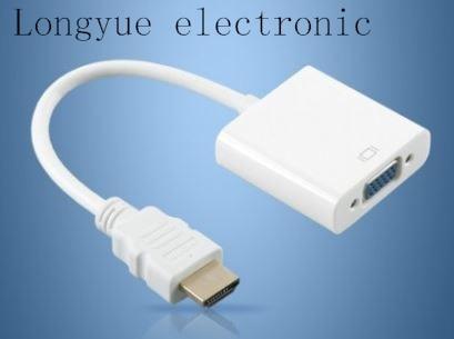 10pcs/lot pc laptop to projector hdmi vga cable converter adapter video convertor hdmi-vga male female