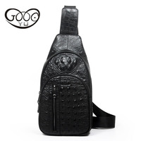 The New Leather Men S Bag Of Ordinary Models Of Crocodile Pattern Chest Breeds European And