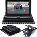 Auto Parking Assistance New LED Night Vision Car CCD Rear View Camera With 4.3 inch Color LCD Car Video Foldable Monitor Camera