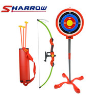 1 Set Kids Toy Archery Set Target Stand Board Quiver Games Shooting Gift For Outdoor Practice Game Accessories