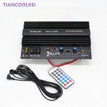 1000 W voiture Subwoofer amplificateur de puissance conseil avec USB plug U disque carte SD Jouer musi mono basse amplificateur conseil avec 10 pouce haut-parleur