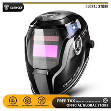 Глобальный DEKO DNS-550E Солнечный Мощность авто затемнение сварочный шлем линзы маски 92*42 см увеличить область для TIG MIG ММА Измельчить