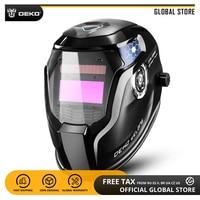 Global DEKO DNS 550E Solar Power Auto Darkening Welding Helmet Welder Lens Mask 92*42cm Larger View Area for TIG MIG MMA Grind