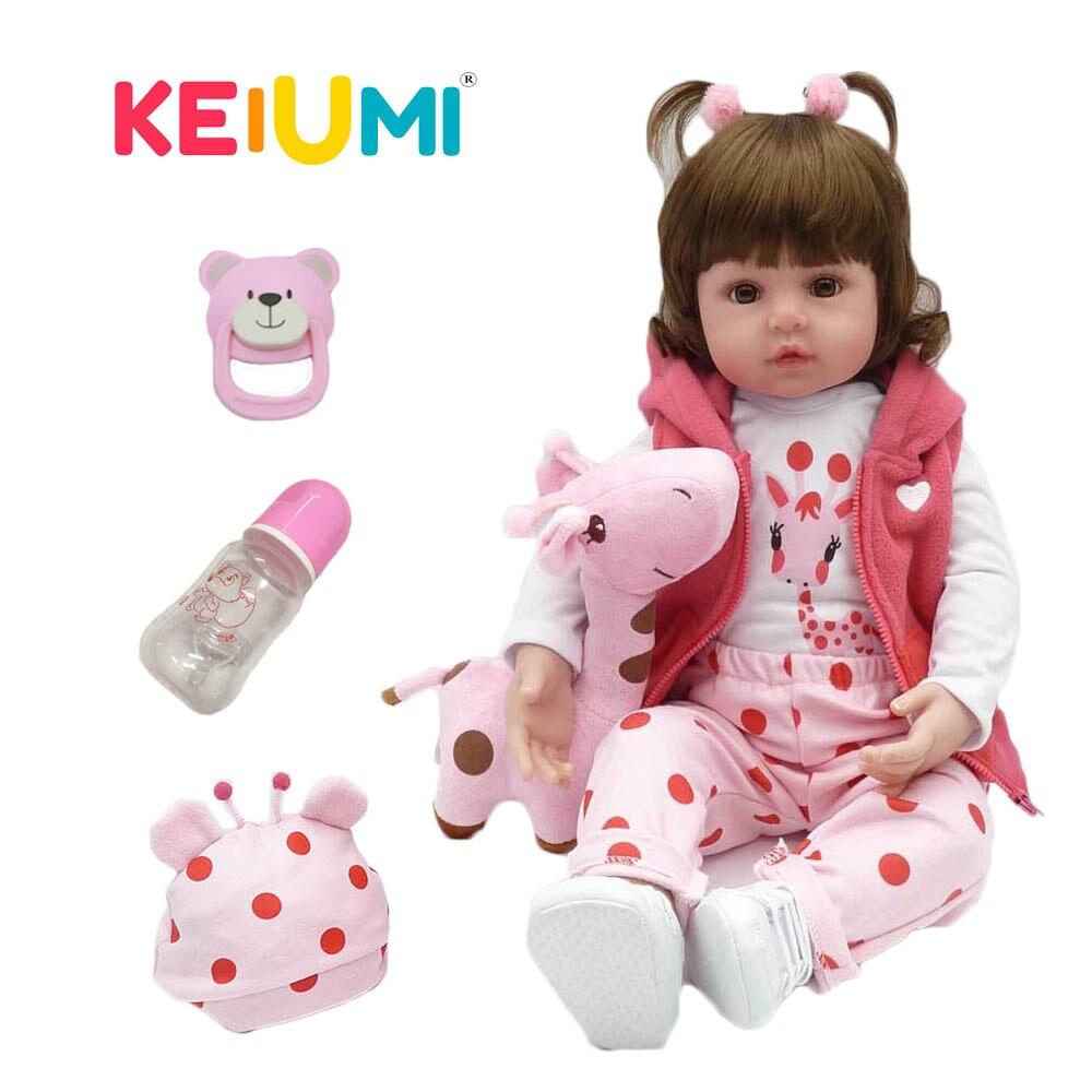Venda quente Realista Boneca Reborn Bebê Silicone Macio Recheado Lifelike Baby Doll Brinquedo Boneca Étnica Para As Crianças Presentes de Natal Aniversário