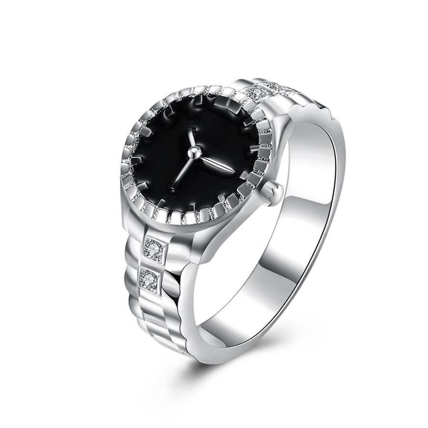 Watch Women relogio masculino Women Mens Dial Quartz Analog Watch Steel Cool Alloy Finger Ring Watch Gift 17SEP14