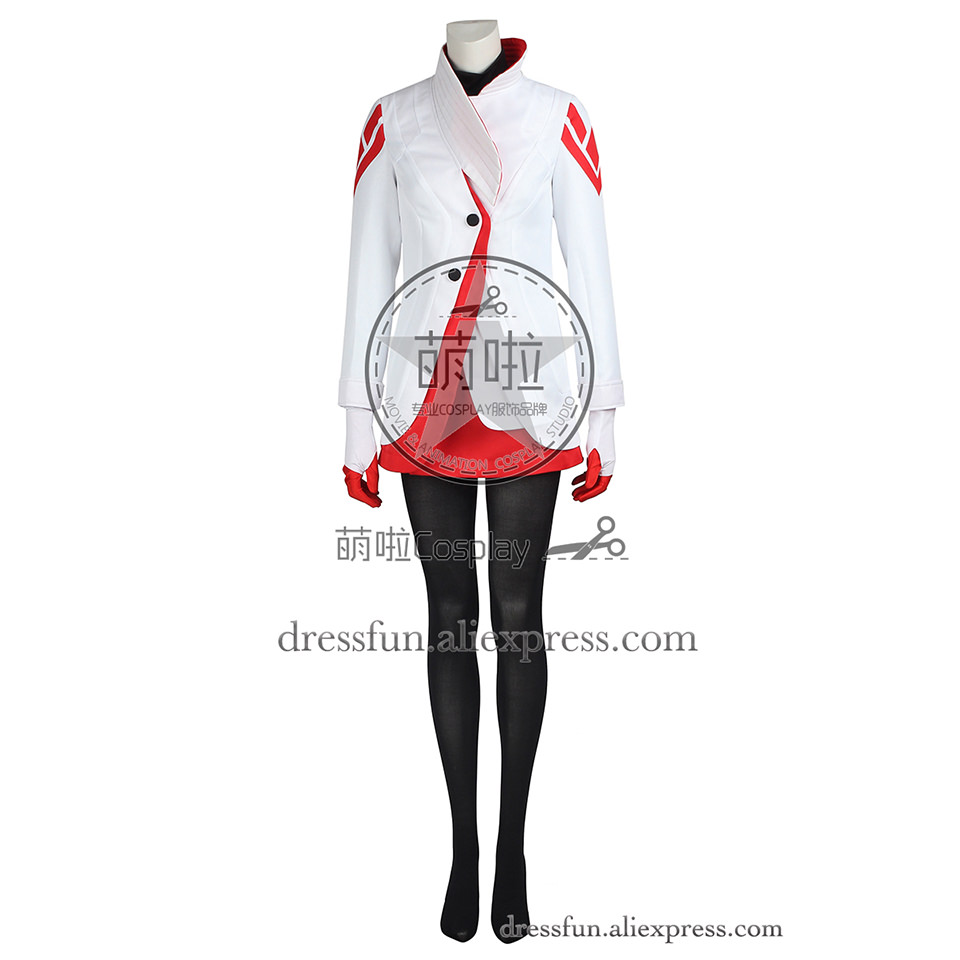 Pokemon GO Cosplay Costume Candela Costume Comfortable White Outfits Full Set Casual Wear Halloween Party Fast Shipping