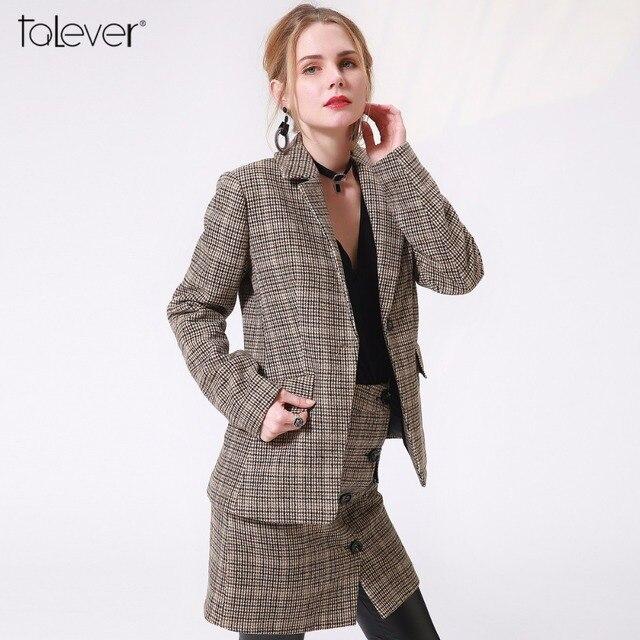 Blazer Laine Poule Femmes De Veste Hiver Vintage Marque Mode 7PHwWqE