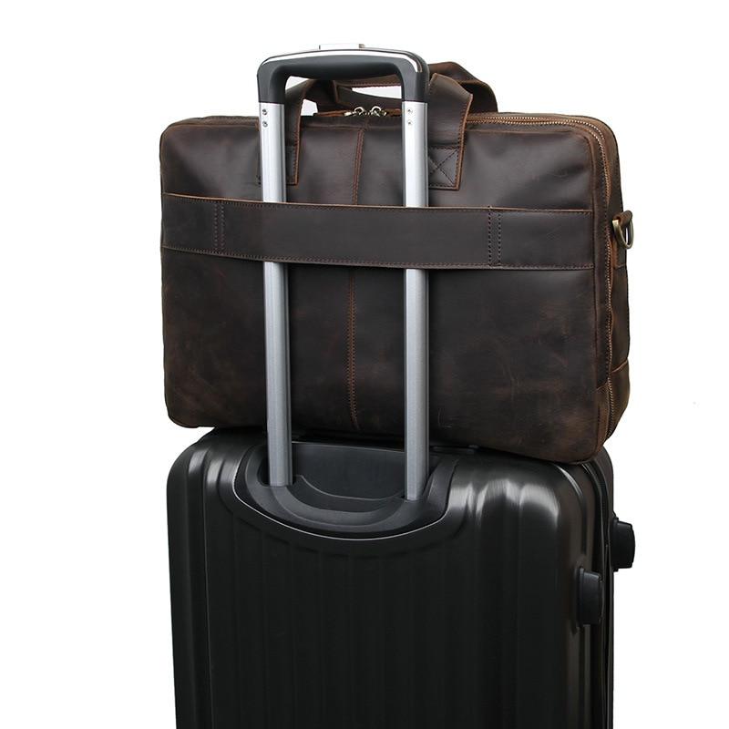 HTB17pSFQFzqK1RjSZFoq6zfcXXaC MAHEU Vintage Leather Mens Briefcase With Pockets Cowhide Bag On Business Suitcase Crazy Horse Leather Laptop Bags 2019 Design