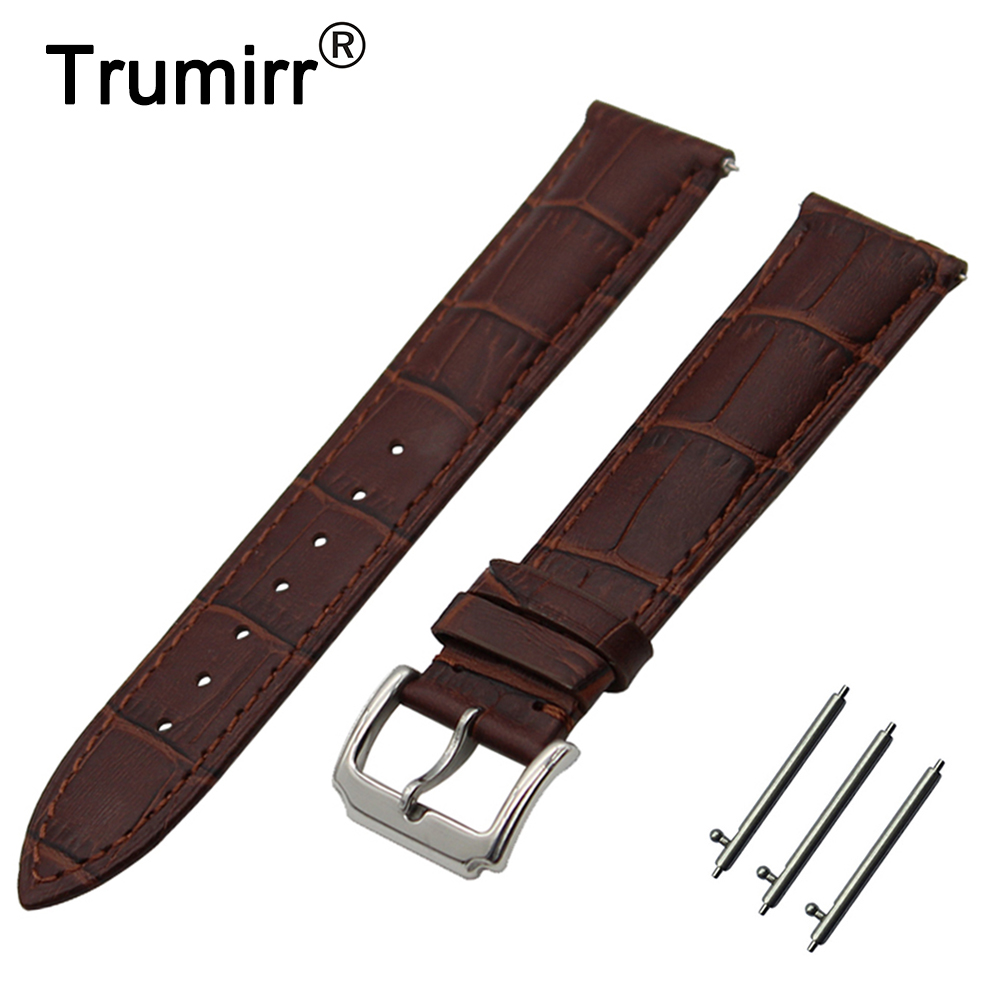 18mm 20mm First Layer Genuine Leather Watch Band Quick Release Strap for DW Daniel Wellington Wrist Belt Bracelet Black Brown