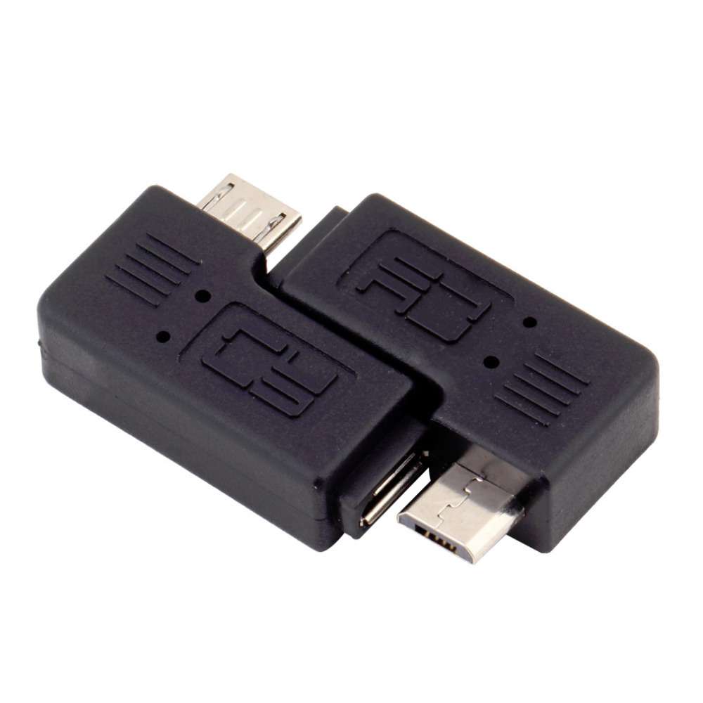 1 Pair Micro Male to Female Adapter Right Left Angle Micro USB Male 90 Degree USB Male to Micro Female Plug Adapters Wholesale micro usb 2 0 5pin male to female m to f extension connector adapter 9mm long plug connector 90 degree right