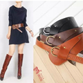 2015 Fashion PU Leather Vintage Waist Belts for Women oblique buckle wide strap cross body Women cummerbund belt Obi female wide