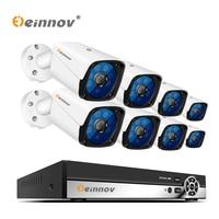 Einnov 8Ch video surveillance kit 2mp 8 cameras 1080P AHD security camera system Set With DVR P2P APP Remote View XMEye IR View