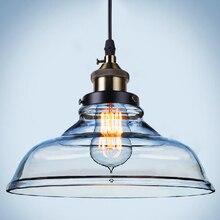 Старинные Стеклянные Подвесные Светильники Hanglamp Светильники Ретро Промышленного Подвесной Светильник Loft Lamparas Colgantes 110 В 220 В E27 Лампы