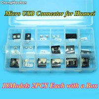 ChengHaoRan 18Models 36pcs Micro USB Jack Adapter 5pin 7pin USB Connector For Huawei C8650 A298T A765E
